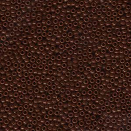 1 X Chocolate Brown Opaque Miyuki Japanese round rocailles glass seed beads 11/0 Approximately 24 gram 5 inch tube ()