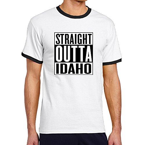 Straight Outta Idaho Men's Raglan Shirts (Bar The Idaho Falls Shop)