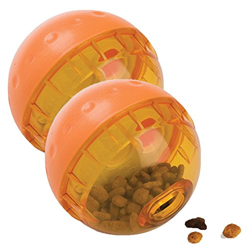 OurPets IQ Treat Ball Interactive Food Dispensing Dog Toy, 4 Inches (2 Pack)(colors may vary) by Our Pets