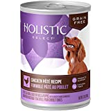 Holistic Select Natural Wet Grain Free Canned Dog Food, Chicken Pâté Recipe, 13-Ounce Can (Pack Of 12)