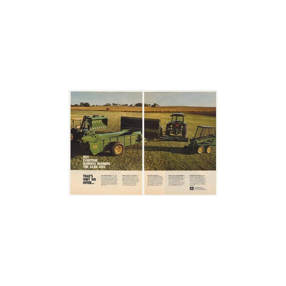 Deere Tractor Loader Spreader Manure 2 Page Print Ad