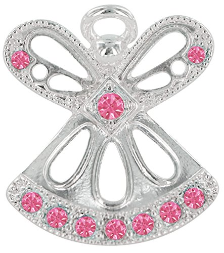 (OCTOBER ROSE ZIRCON Birthstone Wings & Wishes Angel Tac Pin)