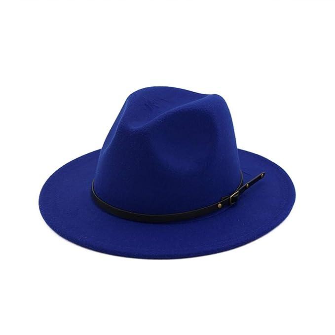 DJB Fedora Panama - Gorro de Lana con Hebilla para cinturón para Mujer 170e6313f2c