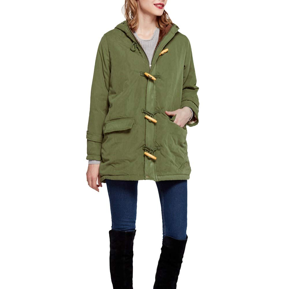Clearance 2018 Womens Jacket Hooded Cotton Coat Winter Warm Parka Thicker Outwear
