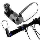 Yosoo Mini Rotary MTB Cycling Bicycle Bike Handlebar Rear View Rearview Mirror Safety Black