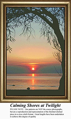 Calming Shores at Twilight, Skyscapes Counted Cross Stitch P