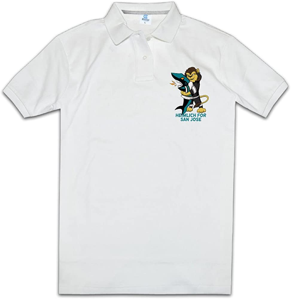 Men's Nerdy Pre-cotton Heimlich For San Jose-Sharks Choke Polo Tshirt