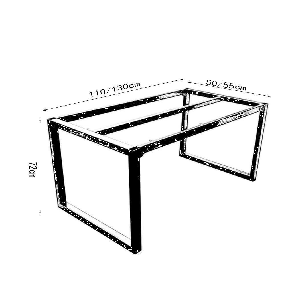 Urnit Supporto da Tavolo Bar Dimensioni : 110 * 50 * 72cm Struttura del Tavolo da Pranzo in Ferro battuto retr/ò Loft Nero Gambe da Tavolo dellhotel Piede da Tavolo Lungo da Pranzo