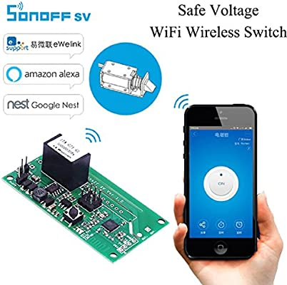 Sonoff SV Safe Voltage Wifi Wireless Switch Smart Home Module DC 5-24V  Phone APP Control Support Secondary Development for Amazon Alexa Google  Nest