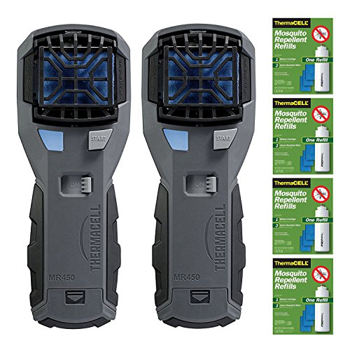 Thermacell MR-450X Armored Portable Mosquito Repellers  & 4