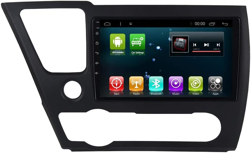 Android 9.0 Car Radio Stereo for Honda Civic 2015 2016 2017 with 9 Inch Touch Screen Bluetooth GPS Navigation Head Unit Steering Wheel Control Backup Camera