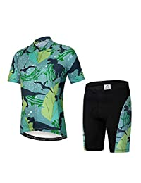 Weimostar Children Cycling Jersey Set Breathable Bike Short Sleeve Clothing