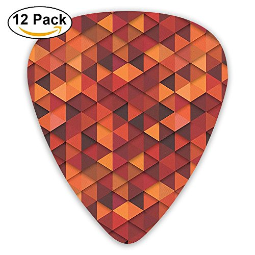 Newfood Ss Abstract Art Style Vector Retro Pattern Of Triangles Guitar Picks 12/Pack Set