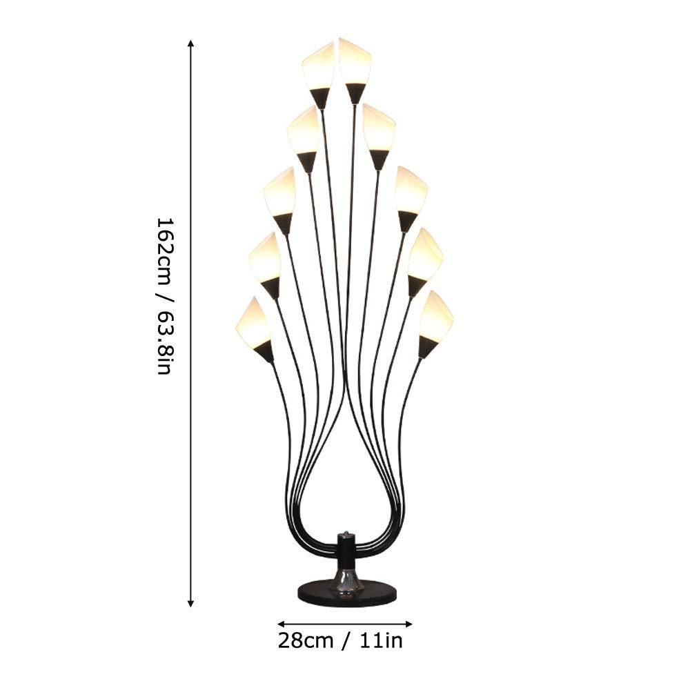 DSELP Lámpara de pie LED para el Salón, Lámpara de Pie Moderna ...
