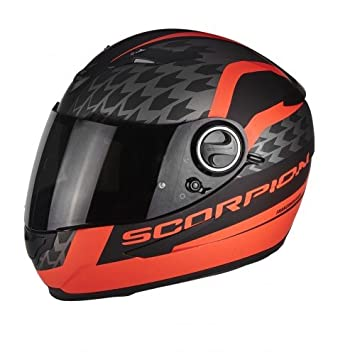 Scorpion Moto Casco Exo 490 genesi, Negro/Rojo, tamaño S