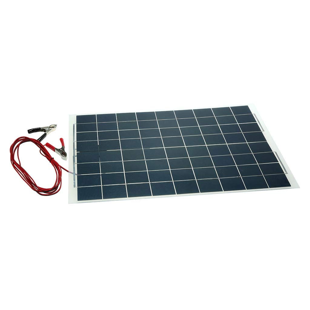 Sonmer Semi Flexible Solar Panel Battery Charger,12V,30W by Sonmer (Image #1)