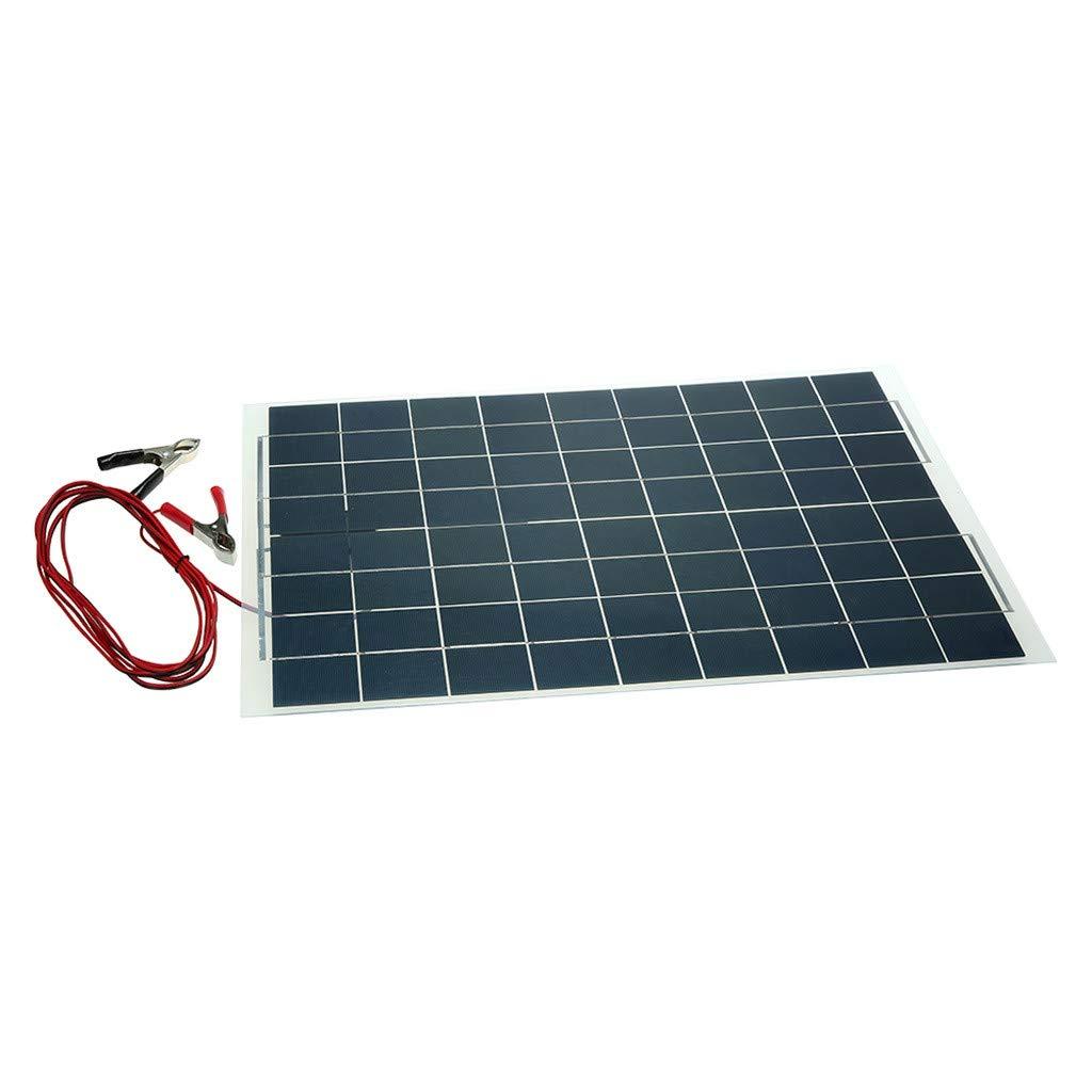 Sonmer Semi Flexible Solar Panel Battery Charger,12V,30W