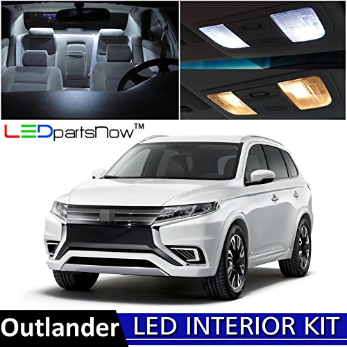 Used Mitsubishi Outlander (LEDpartsNow 2013-2018 Mitsubishi Outlander LED Interior Lights Accessories Replacement Package Kit (10 Pieces), WHITE)