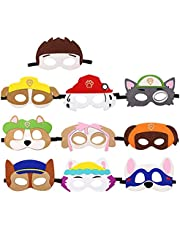 Dlazm Puppy Party Birthday Masks for Paw Patrol Toys-Party Supplies for Kids (Set of 10)