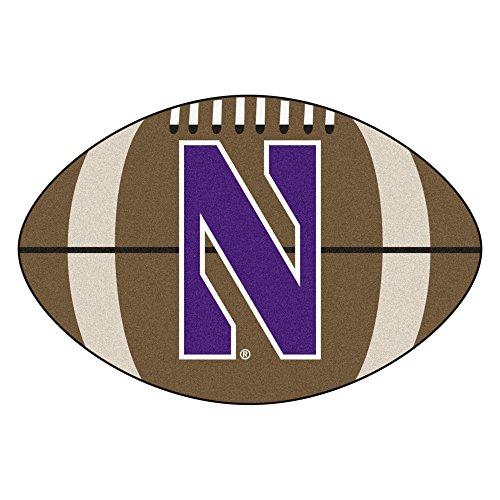 FANMATS NCAA Northwestern University Wildcats Nylon Face Football Rug