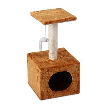 Árboles para gatos Pequeño árbol de Actividad del Gato con los Postes Que rasguñan y condominio, Muebles para los Gatitos, los Gatos y Las Mascotas: ...