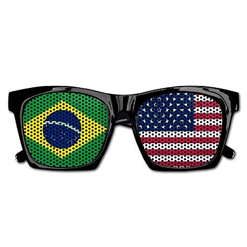 Elephant AN Themed Novelty Flag Of Usa Brazil Wedding Visual Mesh Sunglasses Fun Props Party Favors Gift Unisex by Elephant AN