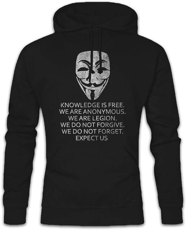 Urban Backwoods Knowledge Is Free Hoodie Felpe con Cappucio Sweatshirt
