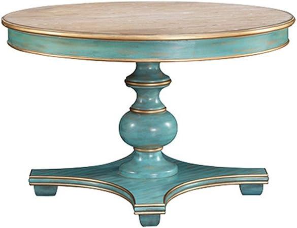 HOMYCASA Table de salle /à manger ronde extensible en bois blanc 90 x 90-120 x 75 cm