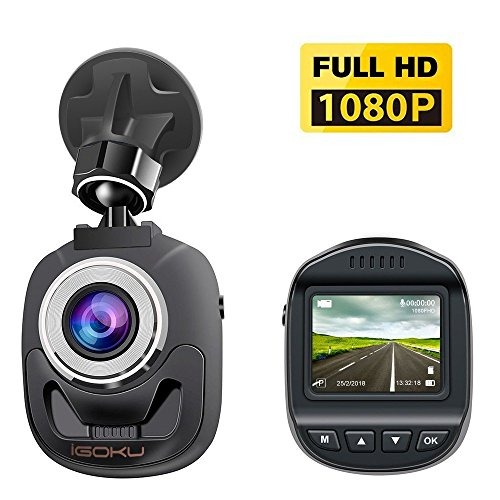 iGOKU Mini Dash Cam 1.5 Inch LCD Display, Full HD 1080P Car DVR Camera Recorder with 140° Wide Angle, Support WDR and G-Sensor, Night Vision, Loop Recording, Parking Monitoring