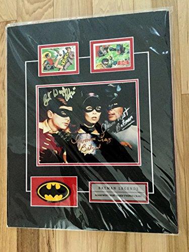 Batman tv show rare triple autograph with COA