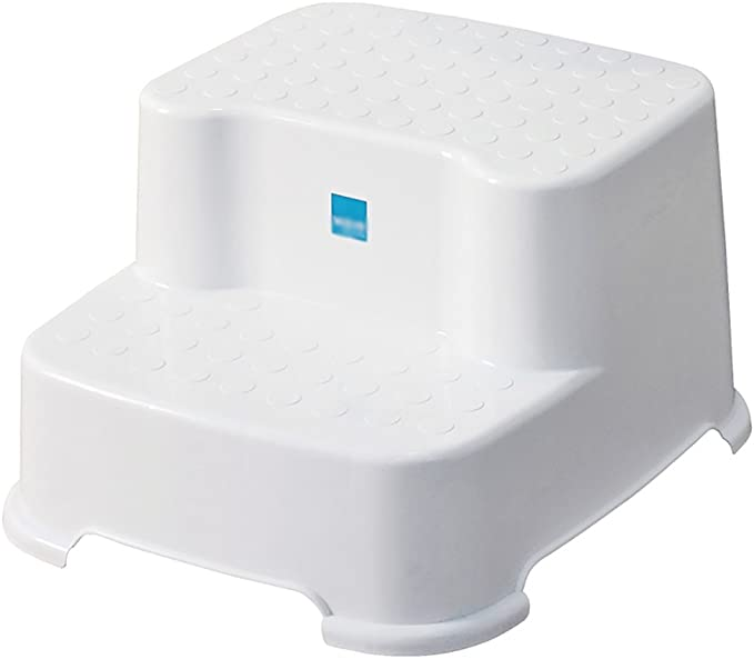 Taburete de paso para niños blancos, Taburete de escalera de 2 escalones Plástico PP Espesar Taburete de baño antideslizante Reposapiés pequeño Banco Taburete bajo para bebé Lavabo de tocador, 31 * 34: Amazon.es: Hogar