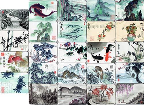 Chinese writing brush style fridge magnets refrigerator magnet design decorations art decor items pattern souvenirs set of 24