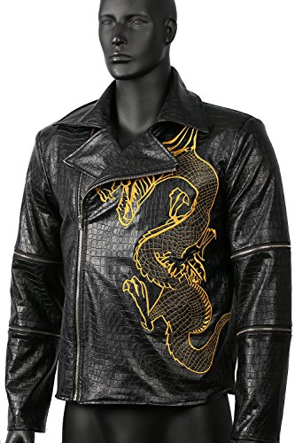 Killer Croc Jacket Cosplay Costume for Adult Halloween Clothing PU Leather 2XL