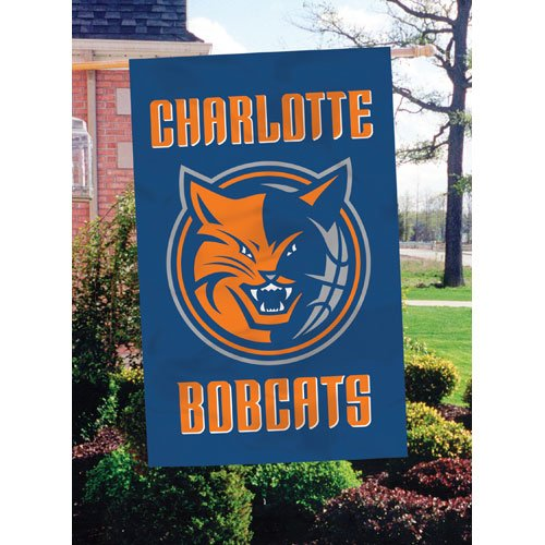 Charlotte Bobcats Applique Banner Flag