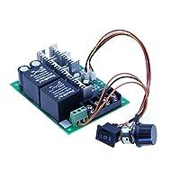 High-Power 40A Reversing DC 12V 24V 36V 48V Motor Governor Speed Controller Reversing Switch