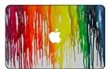 Customized Creative Flowing Color Series Colorful Dropping Paint Special Design Removable Vinyl Decal Top Front-cover Sticker Skin for Macbook Air 13 (Model A1369/a1466)