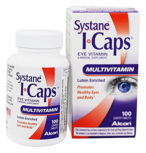 Icaps I-Caps Mv Eye Vitamin & Mineral Supplement Lutein Enriched, Coated Tablets 100 Ct