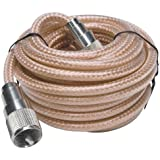 RoadPro RP-8X18CL 18' Clear CB Antenna Mini-8 Coax Cable with PL-259 Connector