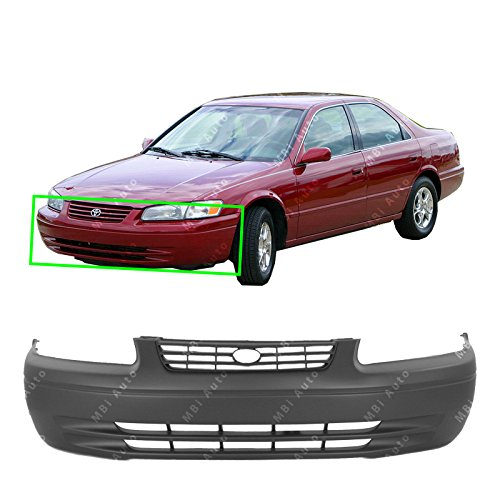 MBI AUTO – Primered, Front Bumper Cover Fascia for 1997 1998 1999 Toyota Camry 97 98 99, TO1000187