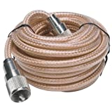 RoadPro RP-8X18CL 18-Feet Clear CB Antenna Mini-8 Coax Cable with PL-259 Connector