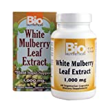 Bio Nutrition White Mulberry Leaf Extract, 1000 Mg, 60 Count