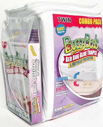 Buggy Beds Mattress Protector And Bed Bug Glue Traps Combo P