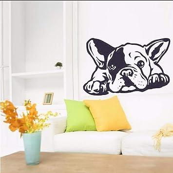 Lglays Bulldog Francés Perro Tatuajes De Pared Arte Vinilo ...