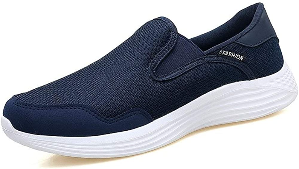 Menshoes Athletic Shoes for Men Sports Shoes Slip On Mesh Material Comfortable Round Toe Shoes Comfortable