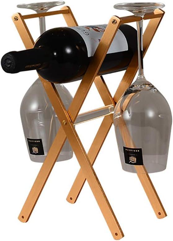 折りたたみ式ワイングラスホルダー、 アルミニウム家庭用ワインラック装飾、 ゴブレットストレージラック、 H315xL138xW170mm