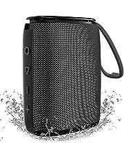 IPX7 Waterproof Bluetooth Speaker, Hadisala Bluetooth 5.0 Portable Wireless Shower Speaker with Mic & TF Card, Exceptional Bass, TWS Pairing 360 Surround Sound Outdoor Speaker for Sports Beach Travel