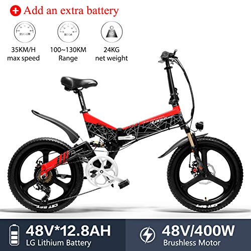 313577b31 LANKELEISI G650 Electric Bicycle 20 x 2.4 inch Fat tire Mountain Bike Adult  Folding Electric City