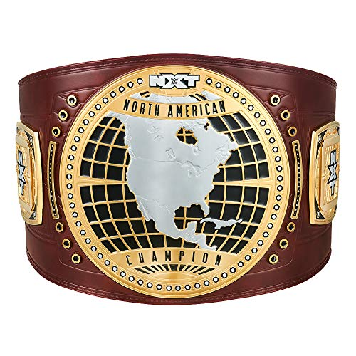 WWE AUTHENTIC WEAR NXT North American Championship Replica Title Belt Dark Brown