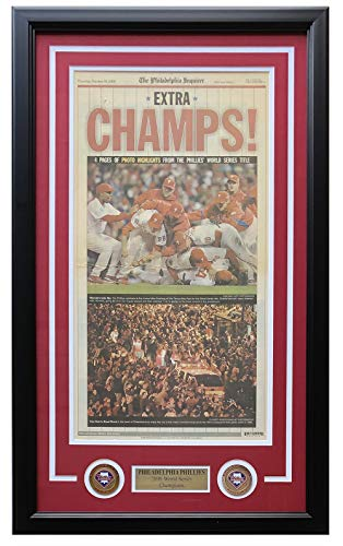 Philadelphia Phillies Framed October 30 2008 Philadelphia Inquirer Cover Page