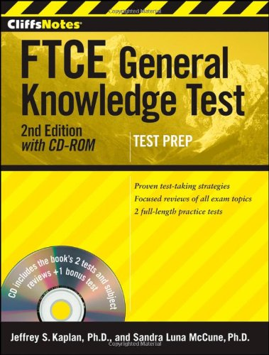 (CliffsNotes FTCE General Knowledge Test, with CD-ROM)
